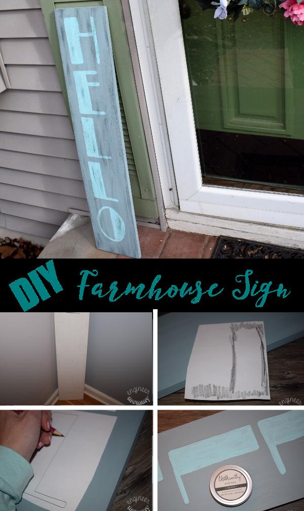DIY Farmhouse Welcome Sign