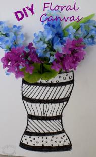 DIY 3-D Floral Canvas