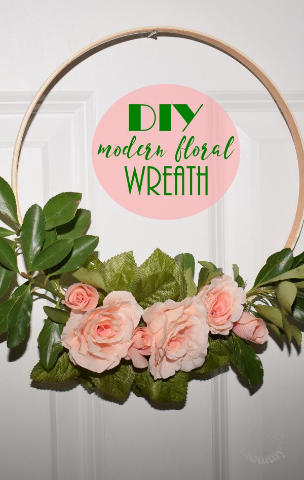 DIY Modern Floral Wreath