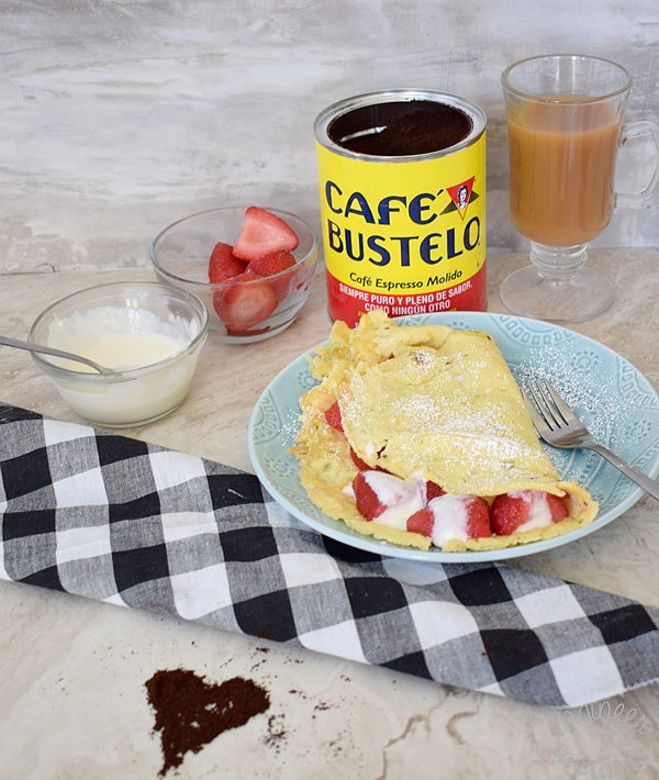 Coconut Flour Crepes w/ Strawberries & Cream