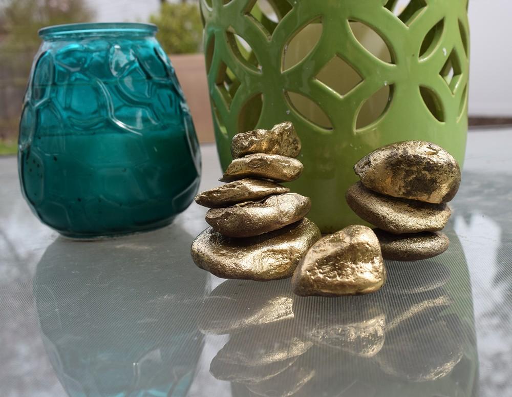 DIY Gold Rock Towers