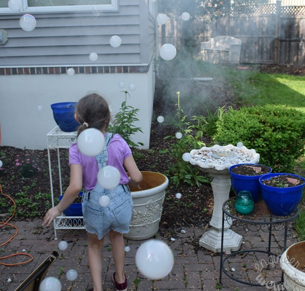 Creating Fog Bubbles & Other Creative Birthday Ideas