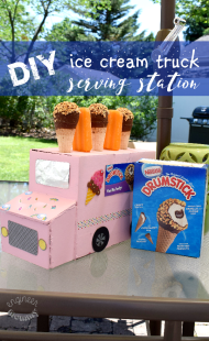 DIY Ice Cream Truck Serving Station
