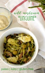 "Wild Mushroom ""Linguine"" w/ Garlic Tahini"