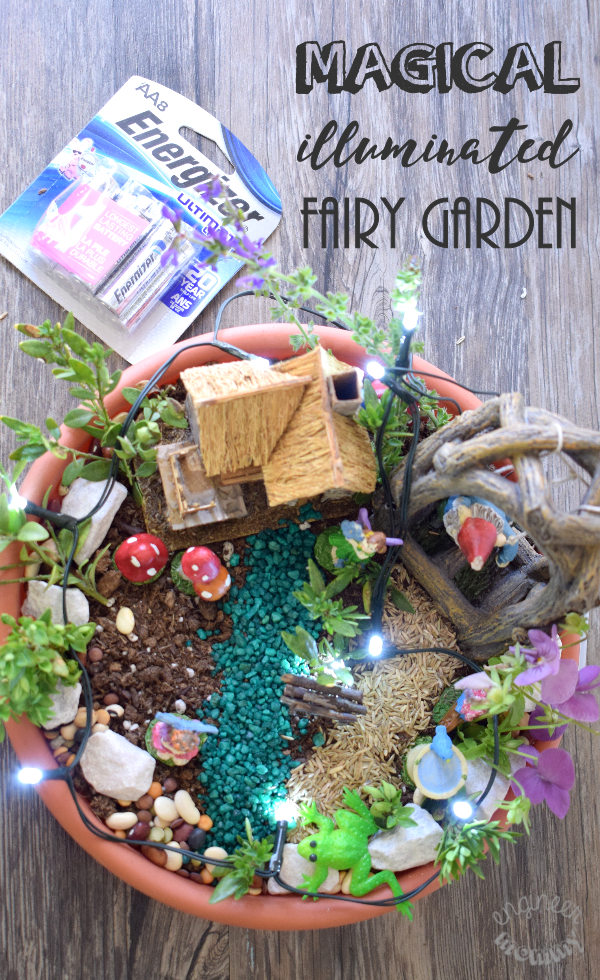 DIY Magical Illuminated Fairy Garden