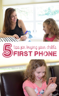 5 Tips for Buying your Child's First Phone