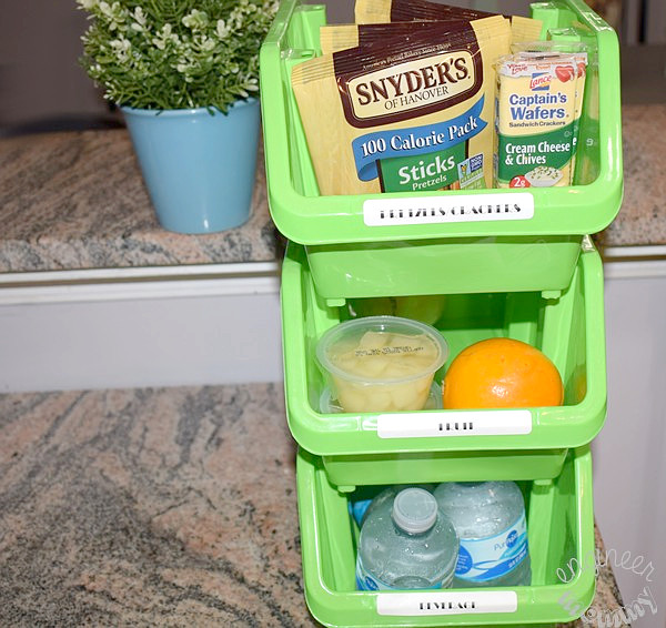 DIY Lunch Prep Station