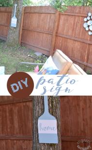 DIY Patio Sign