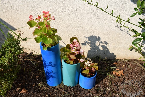 DIY Color-Blocked PVC Planters