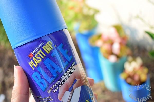 DIY Color-Blocked PVC Planters