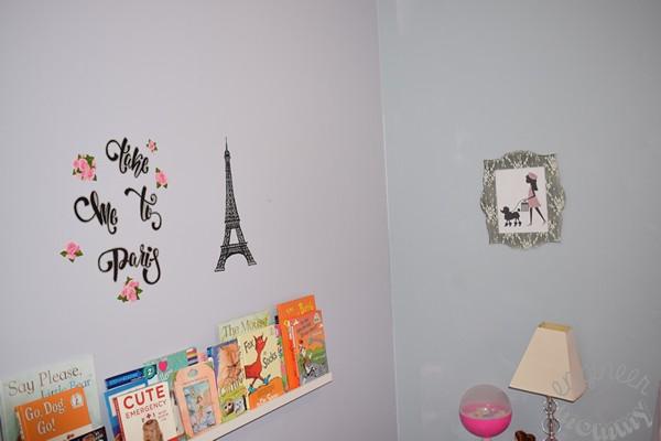 DIY Painted Parisian Headboard