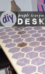 DIY Purple Hexagon Desk
