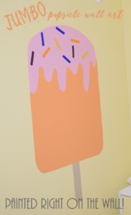 DIY Jumbo Popsicle Wall Art | Kid Bedroom Ideas