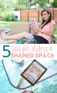 5 Tips for Styling a Shared Space