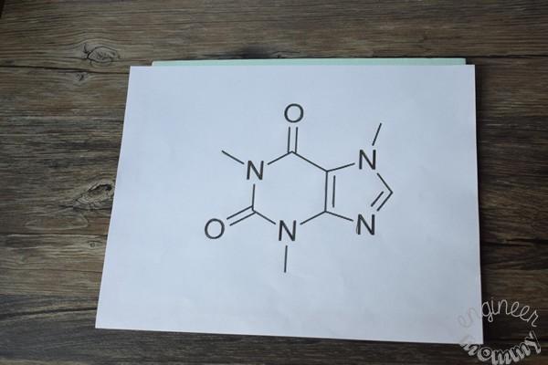 DIY Caffeine Molecule Art