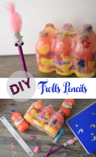 DIY Trolls Pencils