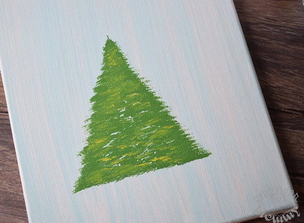 DIY Christmas Tree Art