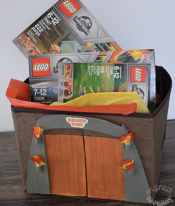 DIY Jurassic World Gift Basket