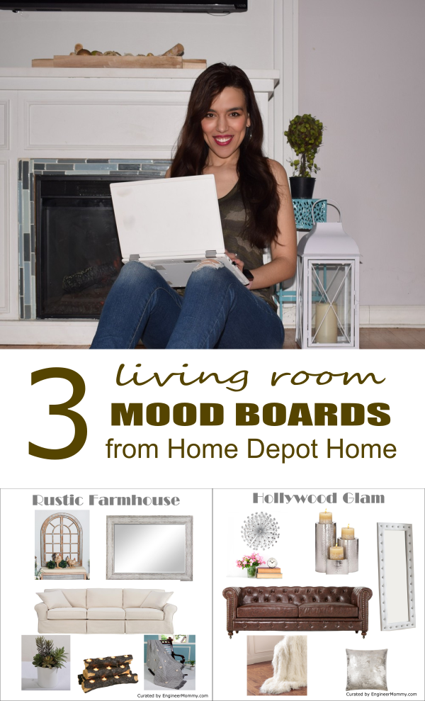 3 Living Room Mood Boards from The Home Depot Home