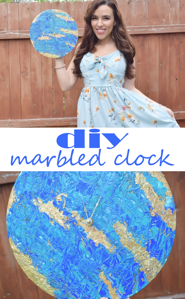 DIY Marbled Clock for Mother's Day