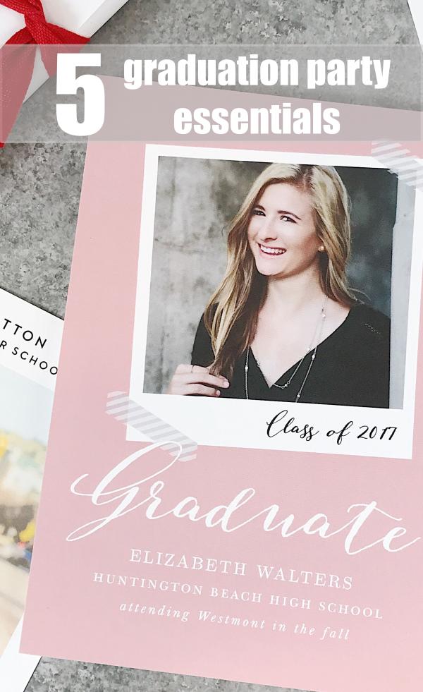 5 Graduation Party Essentials
