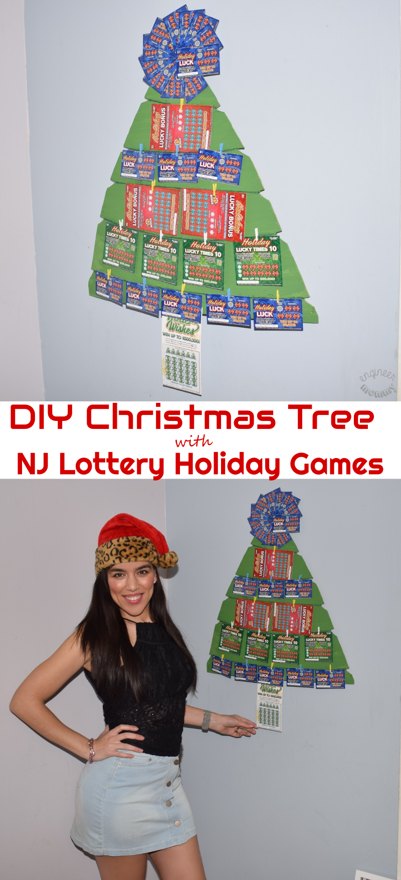 DIY Christmas Tree with NJ Lottery Holiday Games