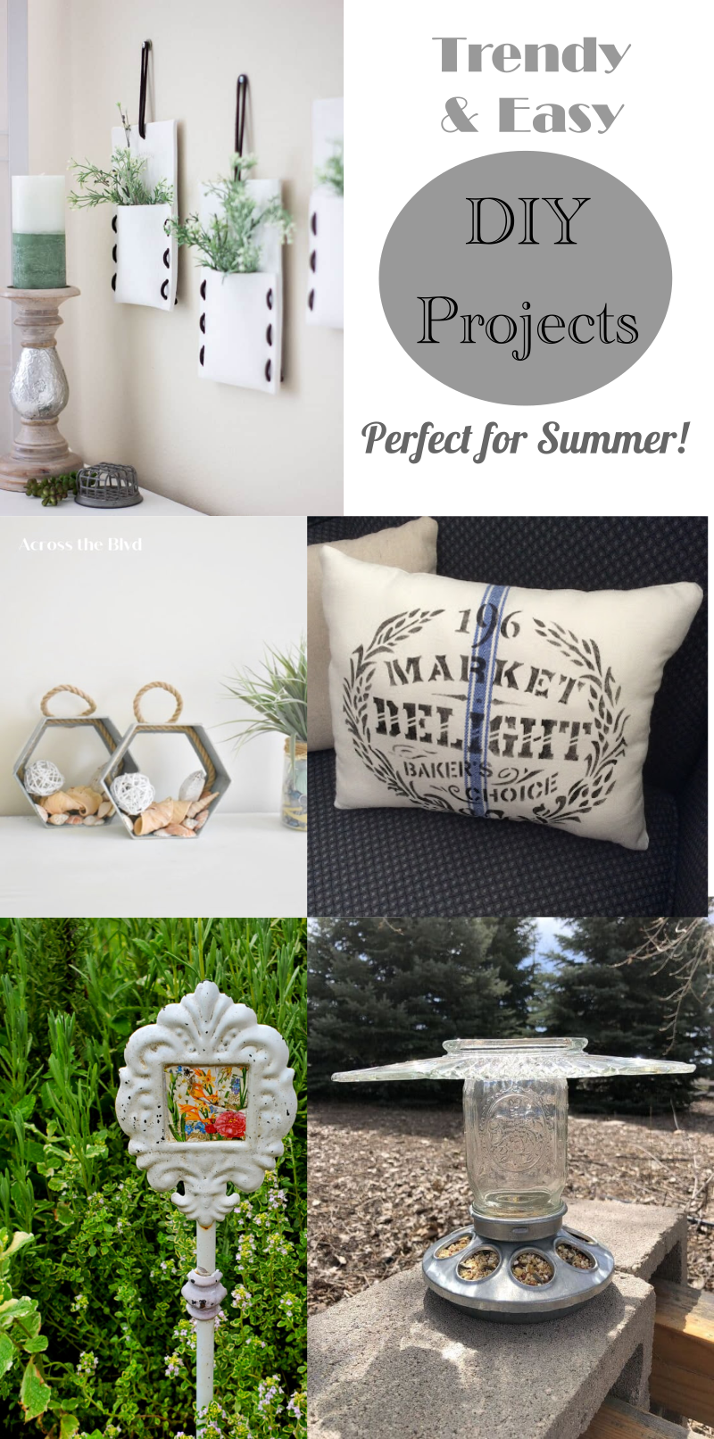 5 Trendy & Easy DIY Projects for Summer