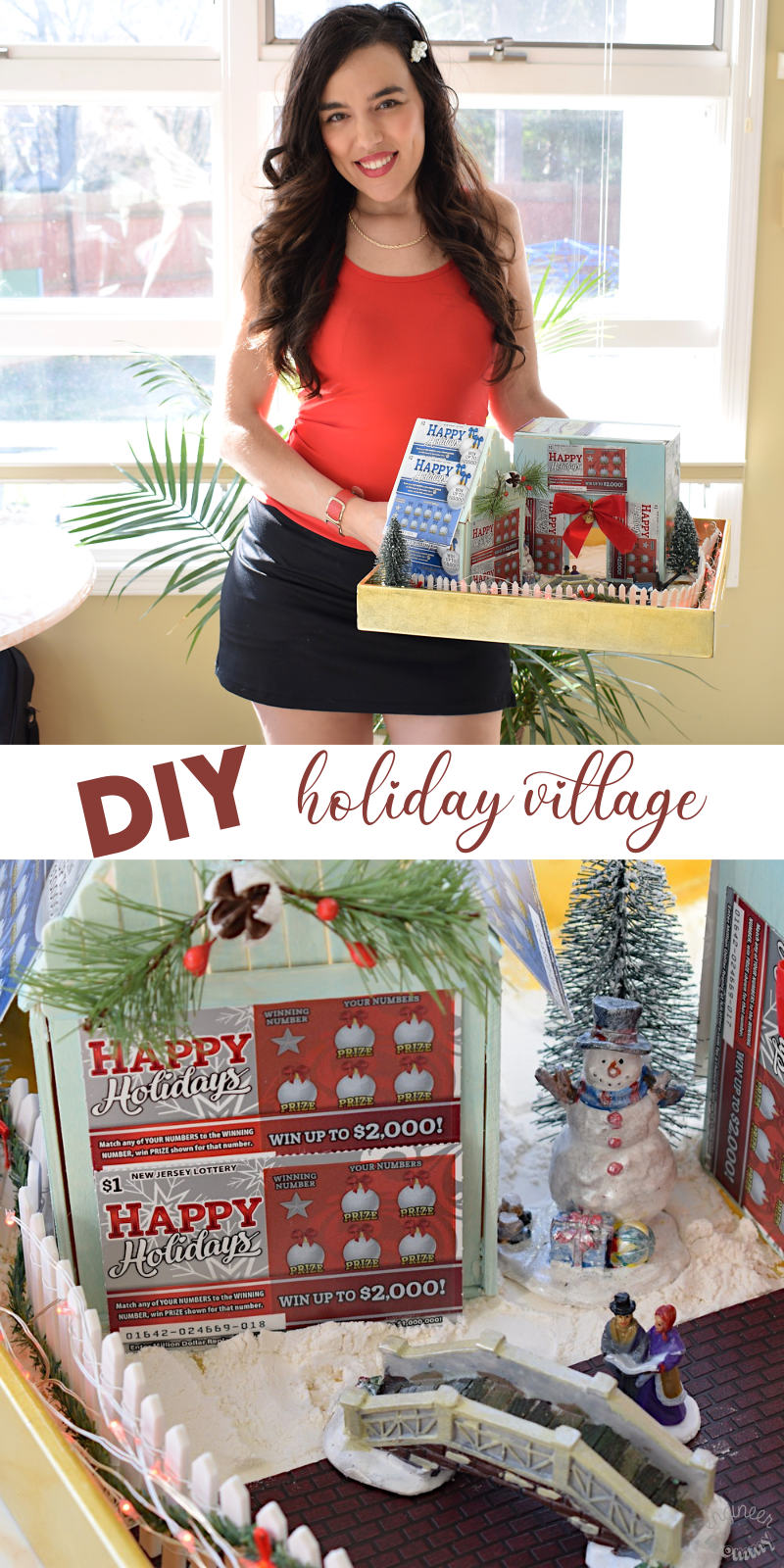 DIY Holiday Village with NJ Lottery Games