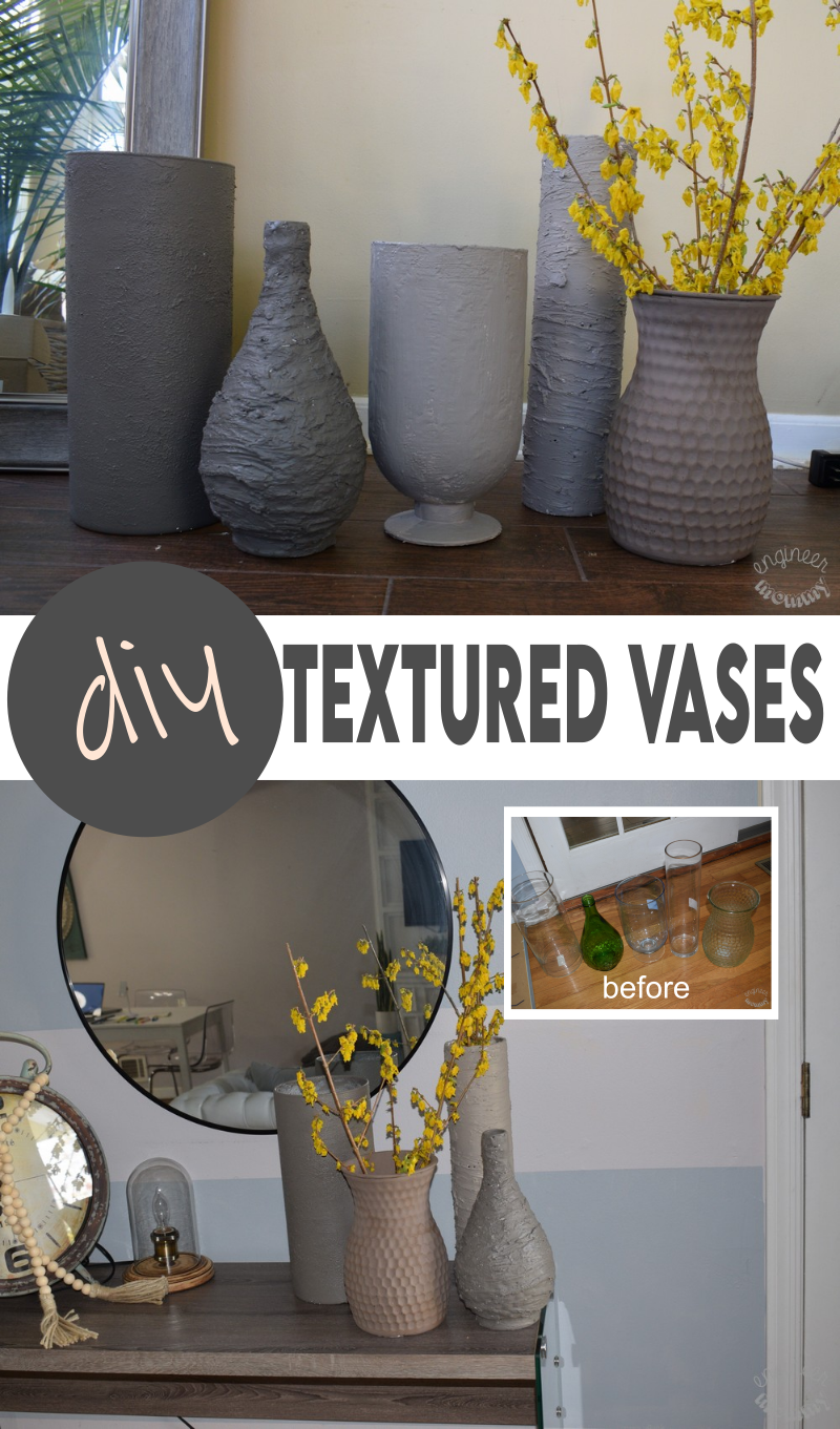 DIY Textured Vases: Transforming Glass into Faux Pottery
