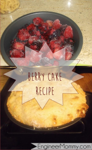 Berry & Yogurt White Cake Cobbler