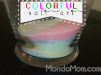 Colorful Salt Art: a craft for kids