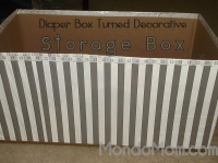 Decorative Storage Box from Diaper Box