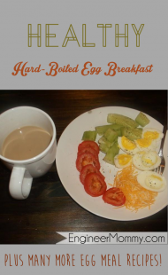 Healthy hard-boiled egg breakfast