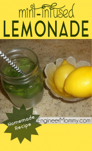 Mint-infused lemonade recipe