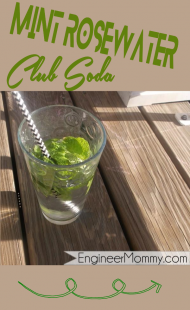 Mint rosewater club soda recipe