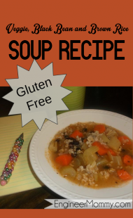 Homemade veggie, bean & rice soup {gluten free}