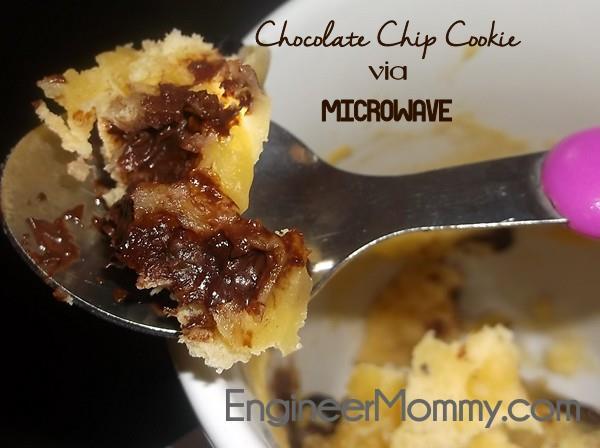 Microwaveable Chocolate Chip Cookie
