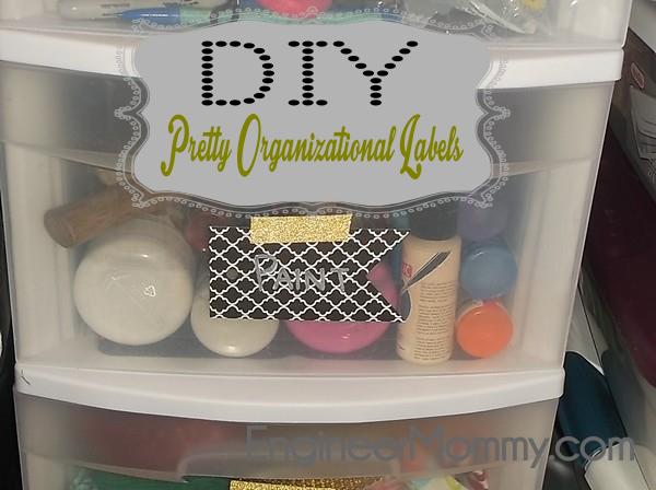 DIY pretty drawer labels