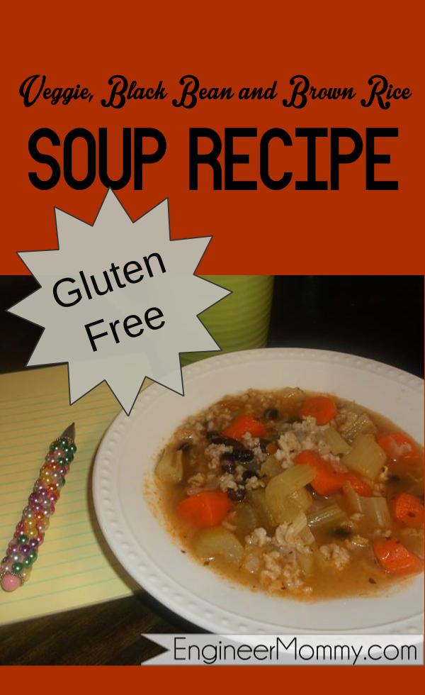 Gluten free veggie, bean and rice soup