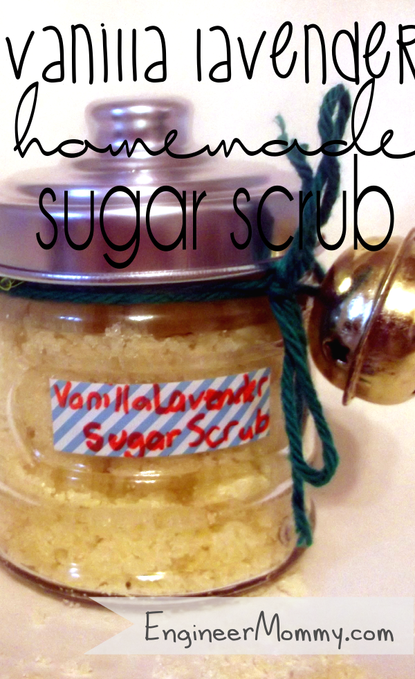 Homemade Vanilla Lavender Sugar Scrub