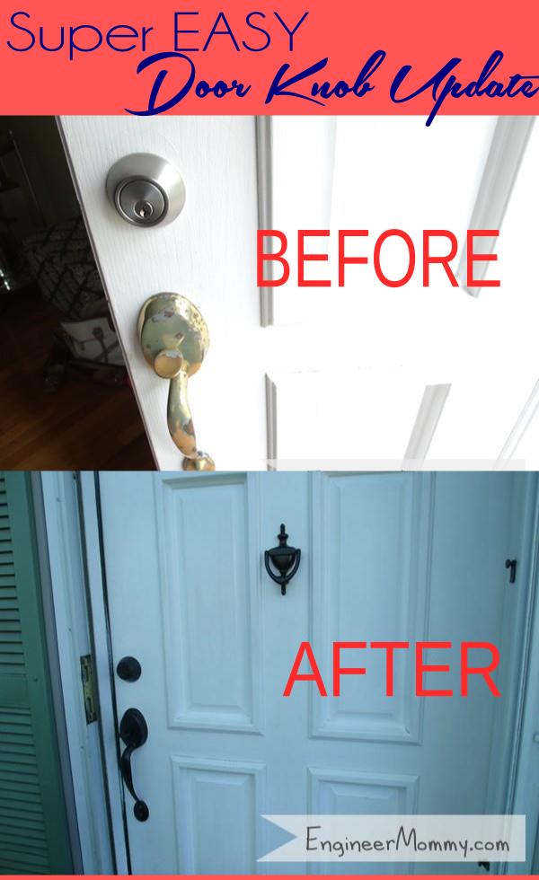Spray paint door knobs
