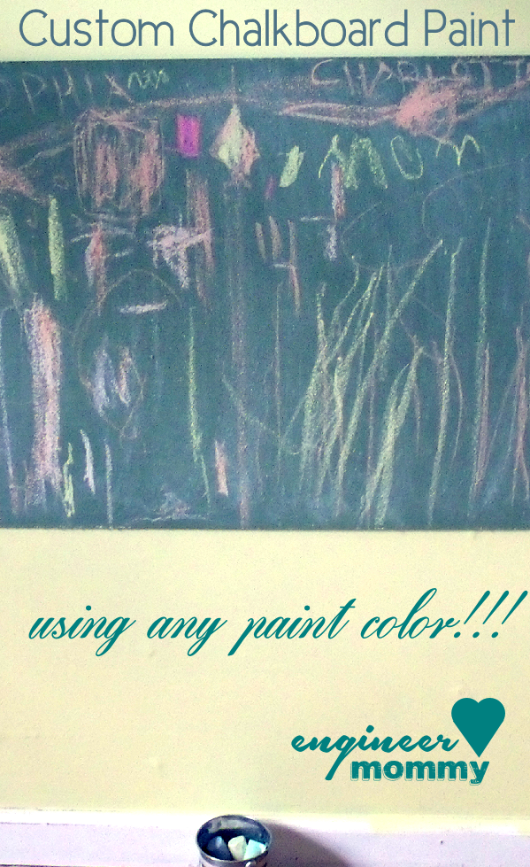 DIY Chalkboard Paint (custom color)
