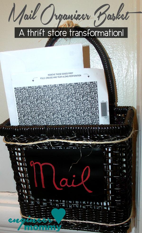Easy DIY Mail Organizer Basket