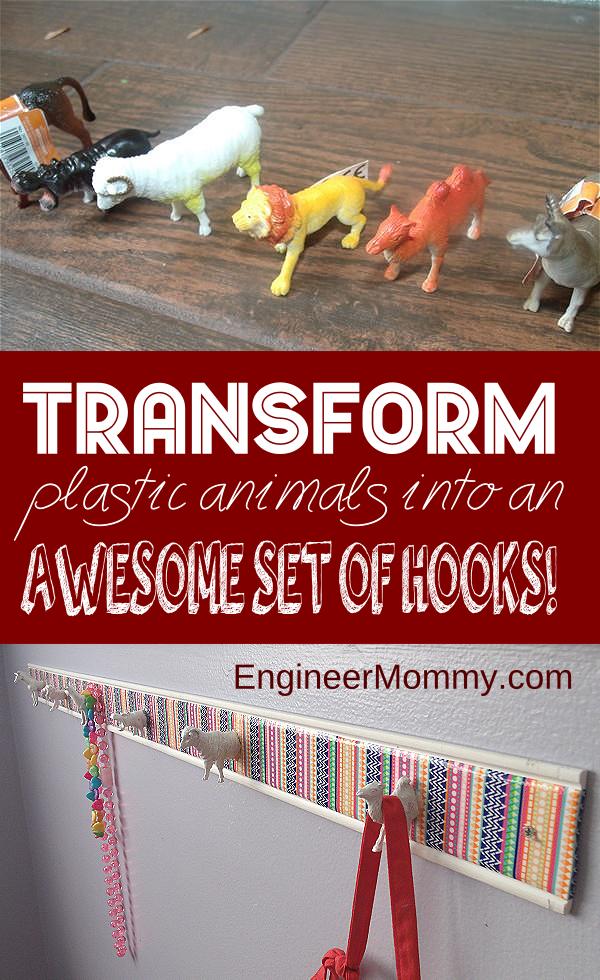 DIY Plastic Animal Hooks: A Kid's Room Project