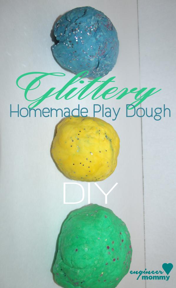 DIY Glitter Play Dough Recipe