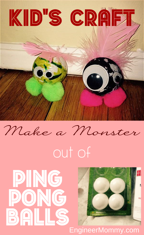 Make a Monster out of Ping Pong Balls: Kid's Craft