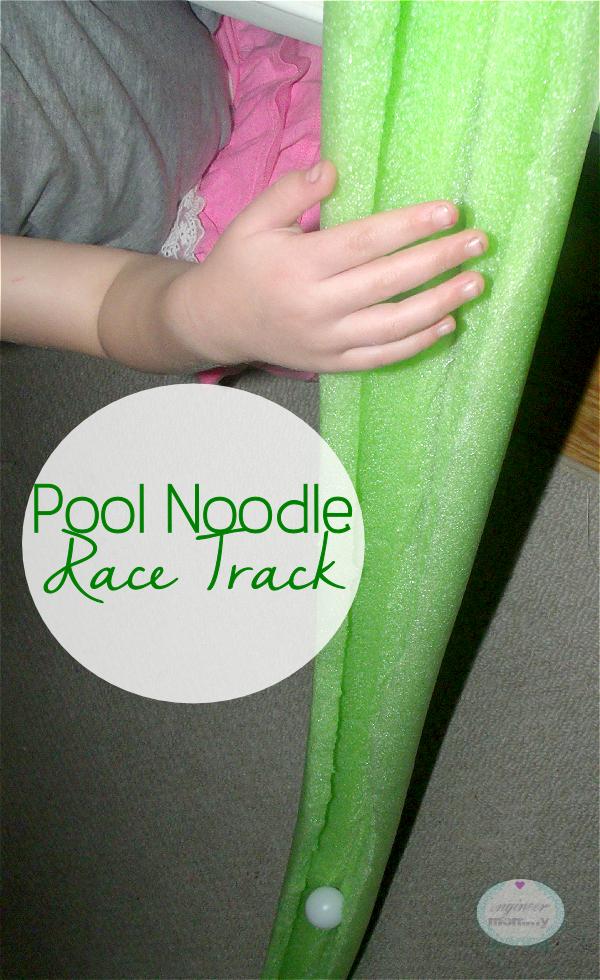 Pool Noodle RaceTrack {Easy Kid's Craft}