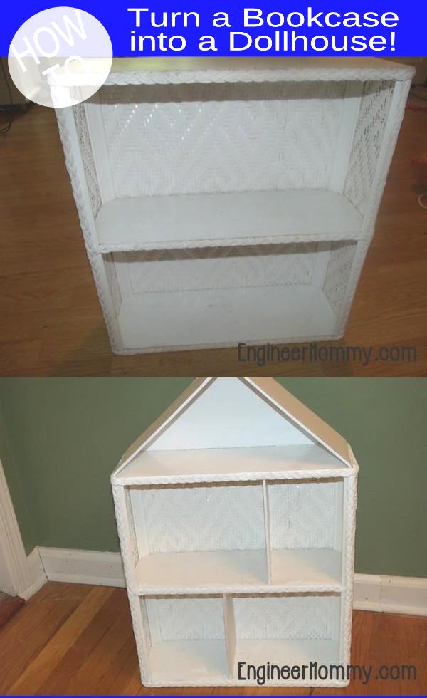 DIY Dollhouse: Turn Bookcase into a Dollhouse