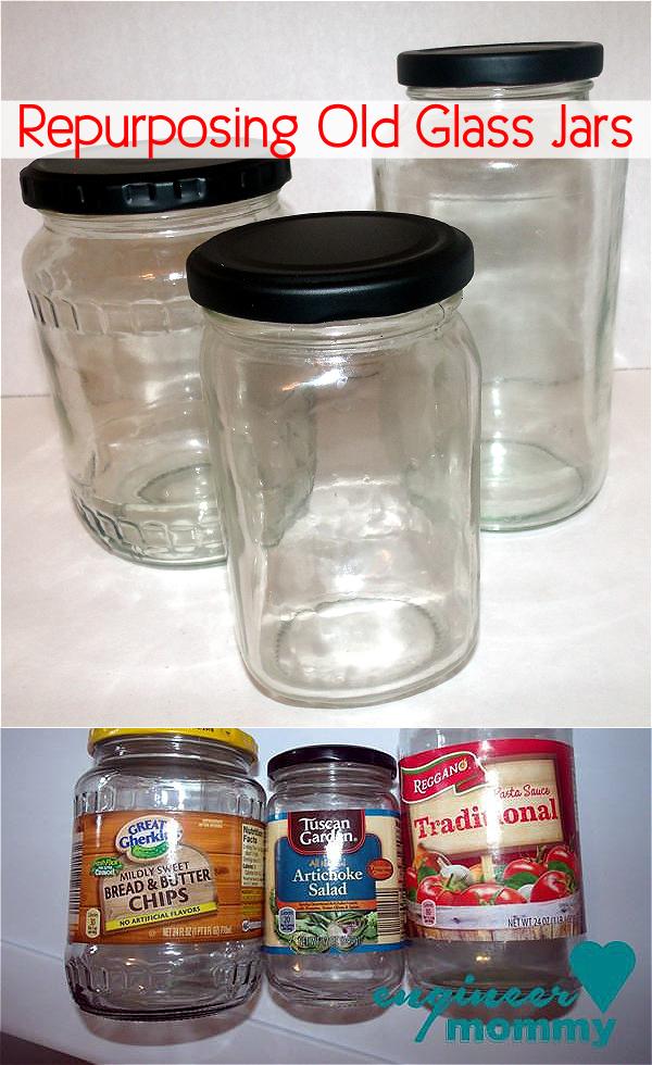 Repurposing old glass jars