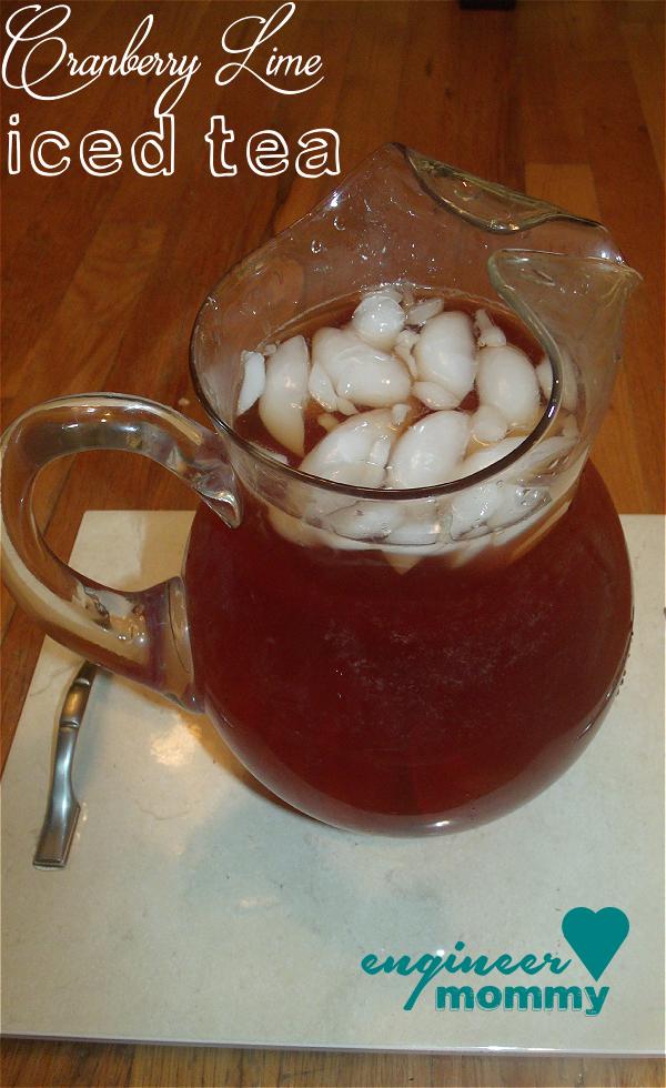 Cranberry Lime Iced Tea
